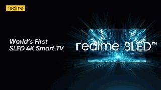 Realme اولین تلویزیون هوشمند جهان را با فناوری SLED معرفی می کند