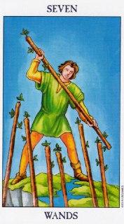 seven of wands tarot