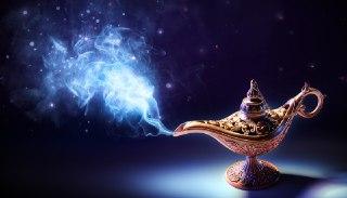 چراغ جادو در فال قهوه