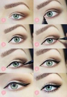 روش کشیدن خط چشم خط چشم عربی
