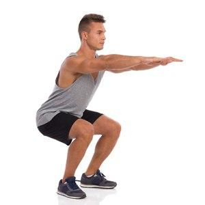 اسکات دست جلو ورزش