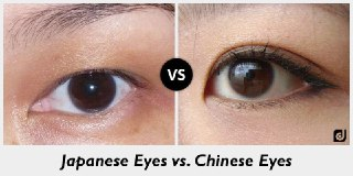 چشم چینی ها و ژاپنی ها
