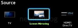 screen-mirorring-تلویزیون-سامسونگ