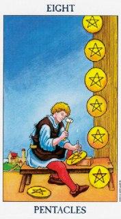 eight of pentacles tarot
